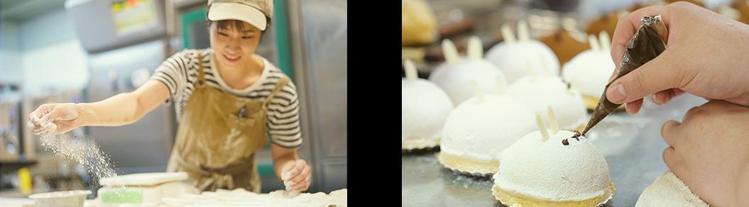 パン職人と洋菓子